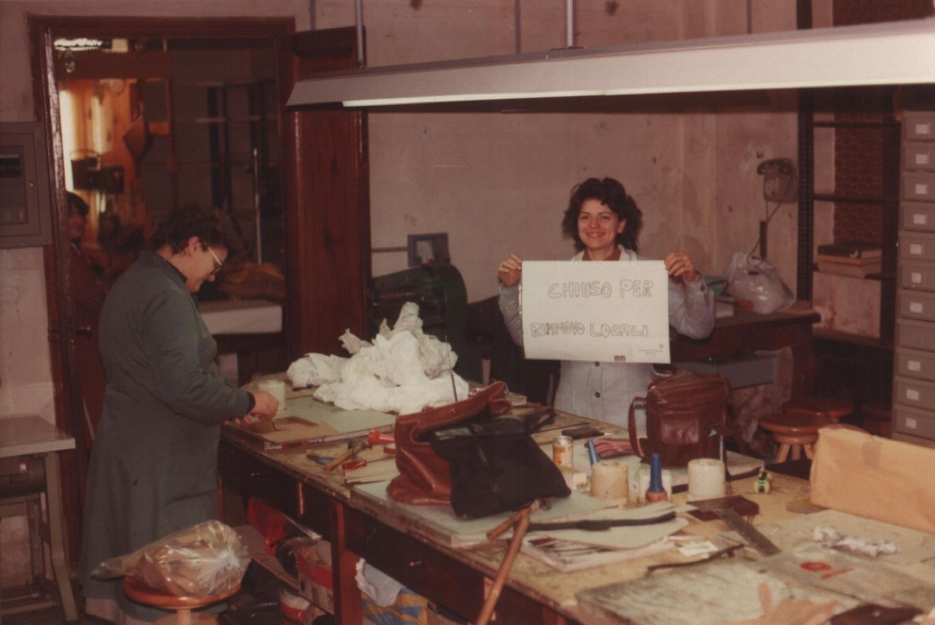 Viviana, rinnovo negozio 1982